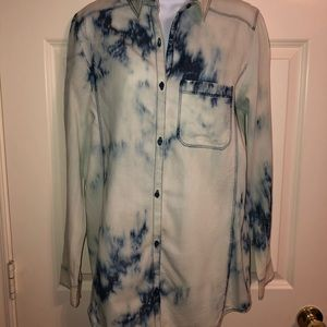 A thin cotton shirt with the acid wash pattern